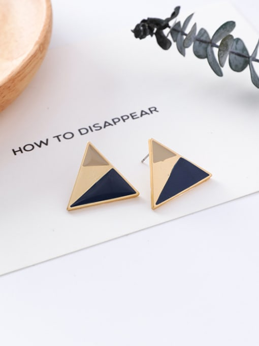 9#10426J Alloy With Gold Plated Trendy Geometric Stud Earrings