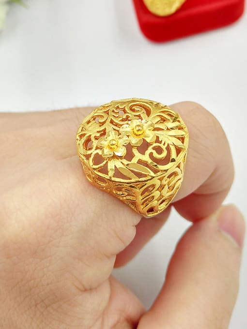 D Unisex Hollow Flower Shaped Ring