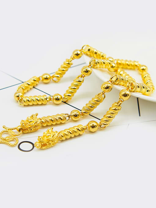 golden Men Double Faucet Shaped Necklace