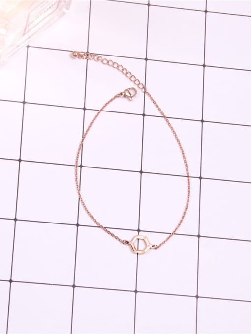 Rose Hexagonal Geometry Accessories Fashion Anklet 0