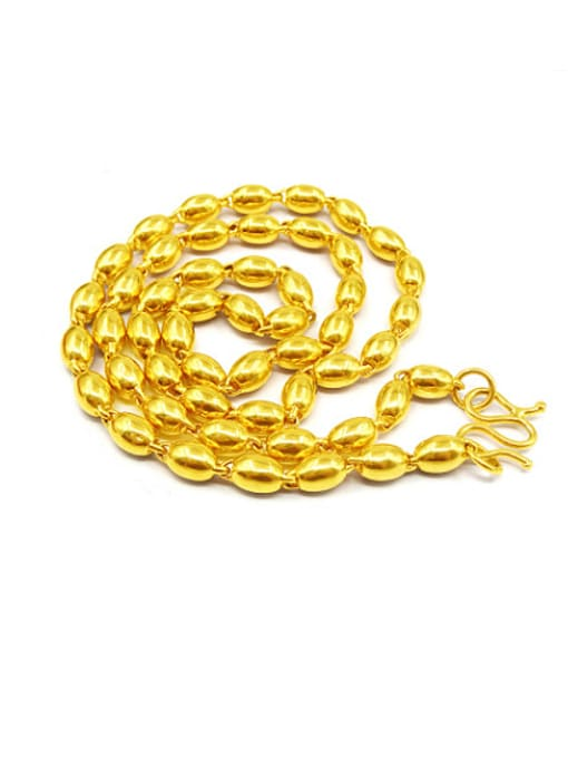 golden Men All-match Oval Shaped Necklace