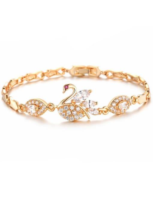 Open Sky Copper With 18k Gold Plated Delicate Animal cygnus Bracelets 0