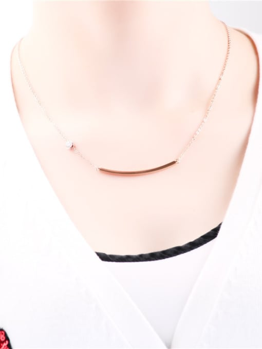 Rose Simple Smooth Strip Fashion Necklace 0