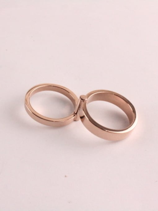 Rose Double 360 Degree Rotating Ring 2