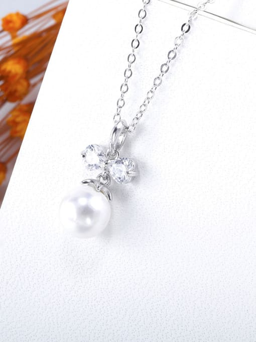 OUXI Fashion Bowknot Artificial Pearls Necklace 1
