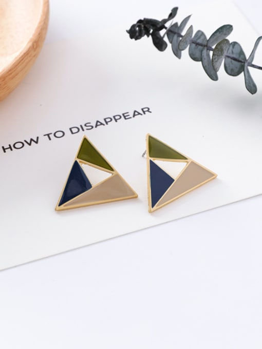 12#10426N Alloy With Gold Plated Trendy Geometric Stud Earrings