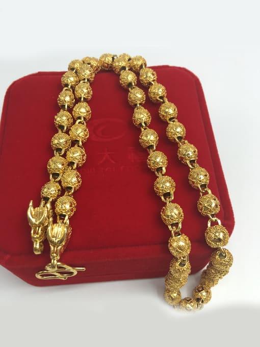 golden Double Faucet Geometric Shaped Necklace