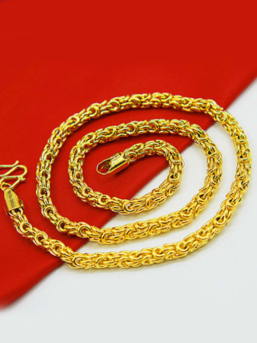 6Mm , 60Cm Men Exquisite Gold Plated Geometric Necklace