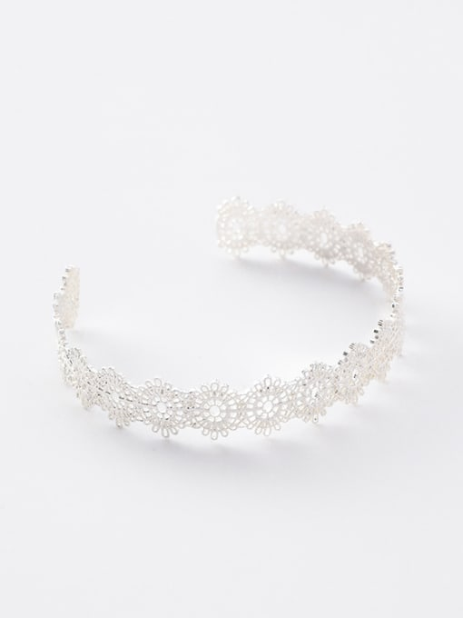 Silver Bracelet Alloy With Gold Plated Trendy Retro lace Ring Bracelet
