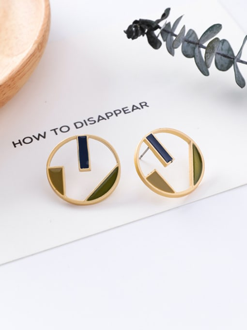 7#10426G Alloy With Gold Plated Trendy Geometric Stud Earrings