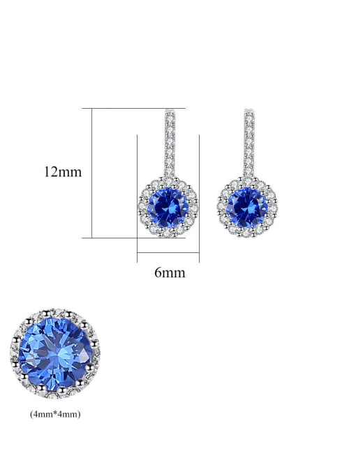 CCUI 925 Sterling Silver With Cubic Zirconia Cute Round Stud Earrings 4