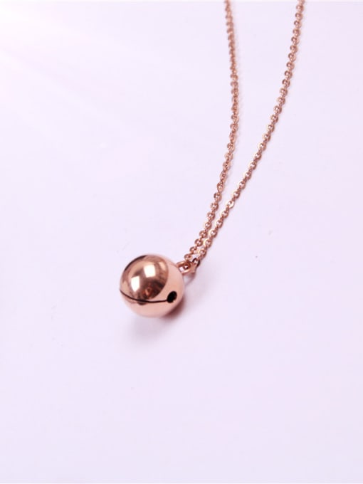 Rose Bells Pedant Clavicle Women Necklace 0