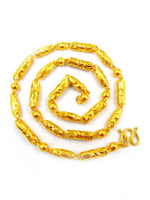 Neayou Men Gold Plated Brass Necklace