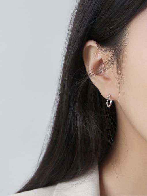 Dak Phoenix 925 Sterling Silver With Platinum Plated Simplistic Geometric Stud Earrings 1