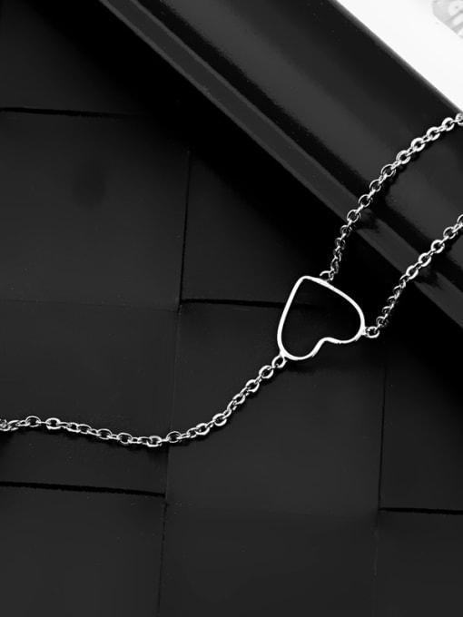 OUXI Simple Heart shapes Platinum Plated Necklace 2