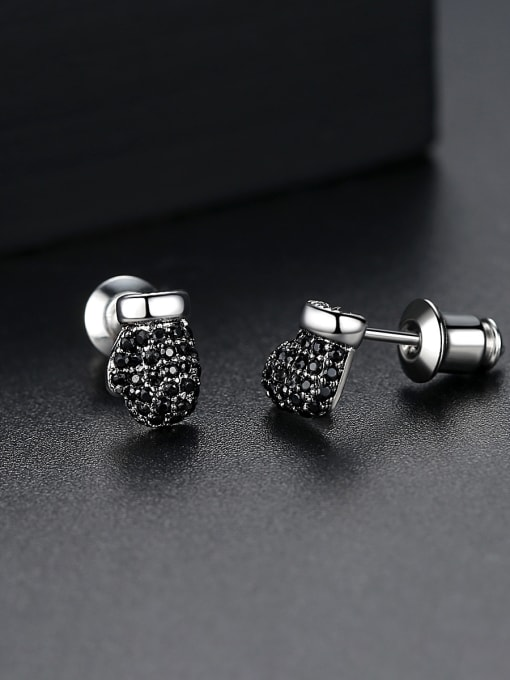 BLING SU Copper With 18k Gold Plated Fashion Clothes Stud Earrings 2