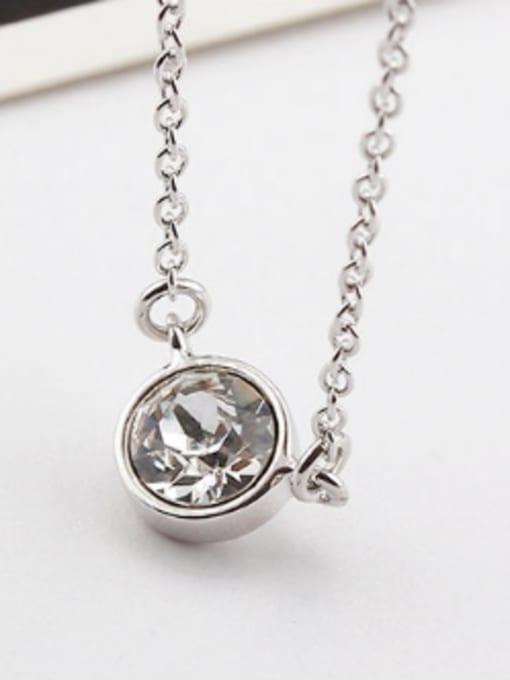 OUXI Simple Round Austria Crystal Necklace 2