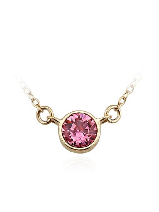 OUXI Simple Round Austria Crystal Necklace