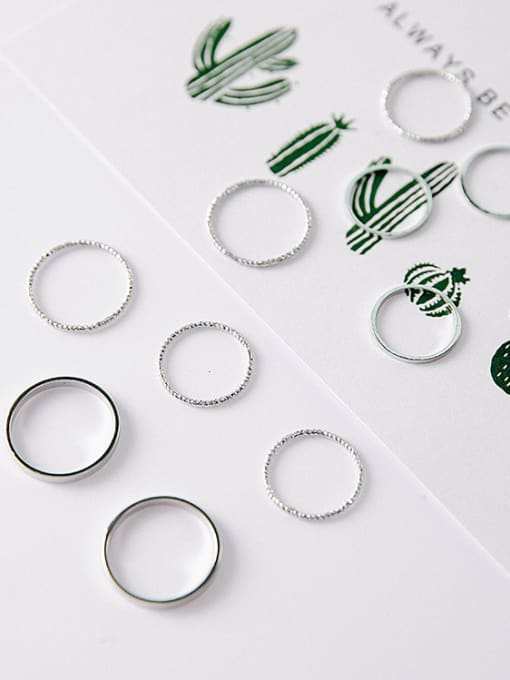 Girlhood Alloy With Gold Plated Casual Round 10 sets of combined rings 2