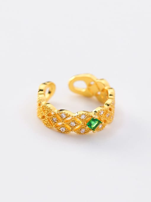 Girlhood Alloy With Gold Plated  Cubic Zirconia Classic free size Rings 0
