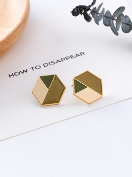 18#10426X Alloy With Gold Plated Trendy Geometric Stud Earrings