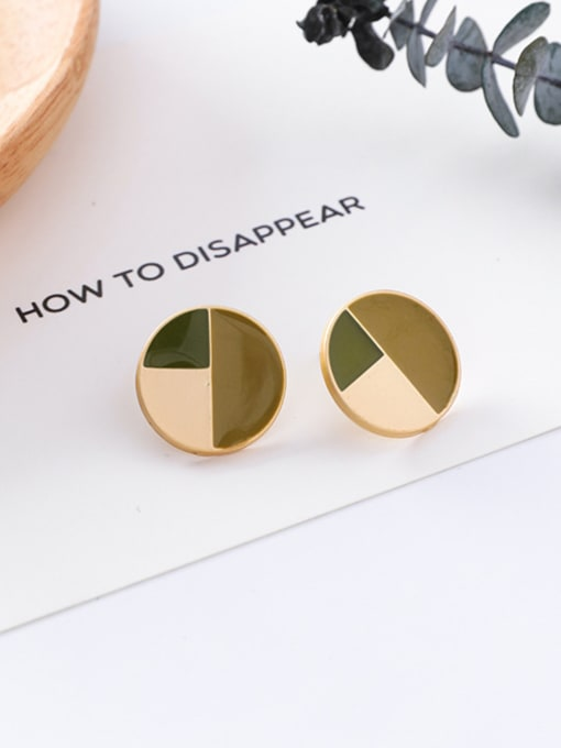 3#10426C Alloy With Gold Plated Trendy Geometric Stud Earrings