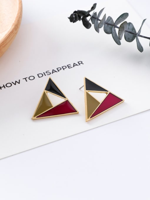 11#10426M Alloy With Gold Plated Trendy Geometric Stud Earrings