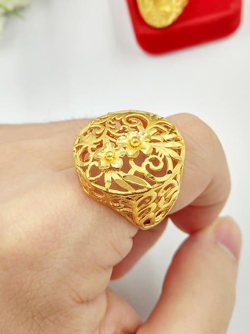 Neayou Unisex Hollow Flower Shaped Ring 1