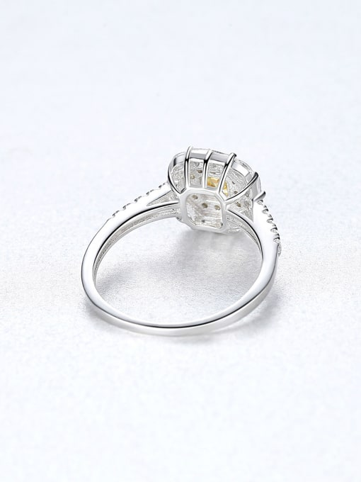 CCUI 925 Sterling Silver With Cubic ZirconiaDeli cate Square Solitaire Rings 3