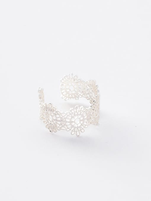 Silver Ring Alloy With Gold Plated Trendy Retro lace Ring Bracelet