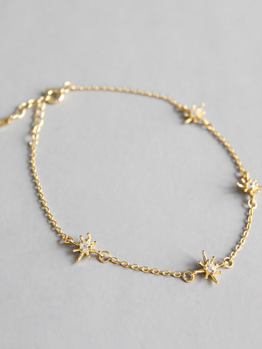 Dak Phoenix 925 Sterling Silver With 18k Gold Plated Fashion Flower Bracelets