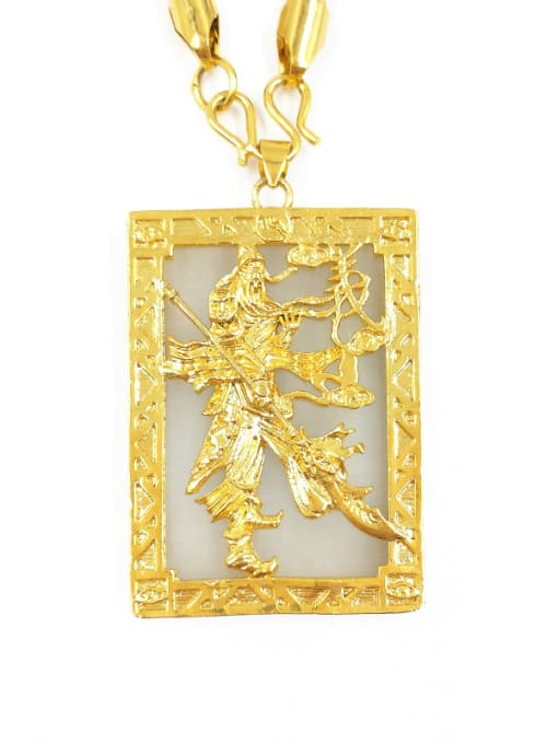 A Square Shaped Chicken Pattern Pendant