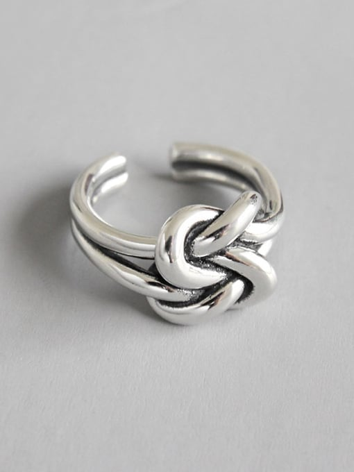 Dak Phoenix 925 Sterling Silver With Antique Silver Plated Vintage Free size Rings 0