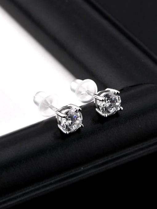 OUXI Simple Tiny Cubic Zircon Stud Earrings 2