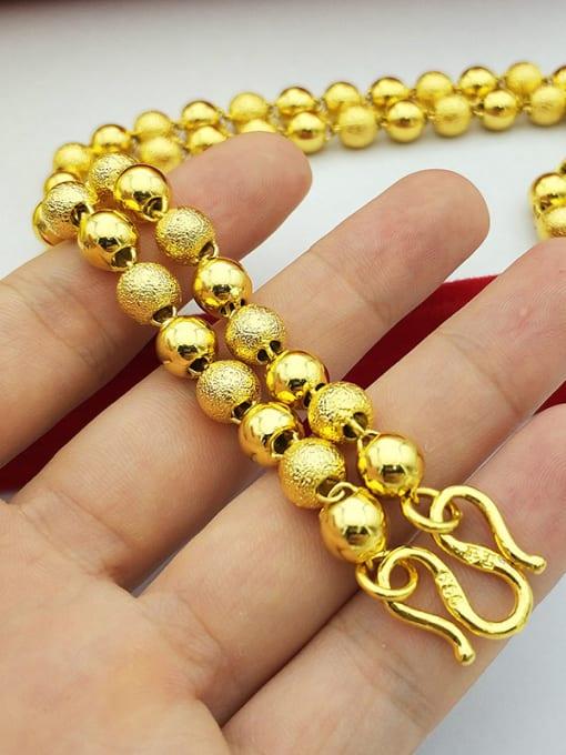 Neayou Men Exquisite Round Beads Necklace 1