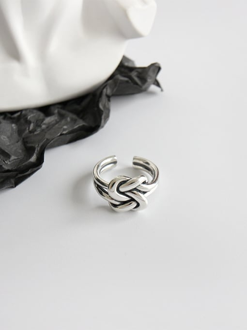 Dak Phoenix 925 Sterling Silver With Antique Silver Plated Vintage Free size Rings 1
