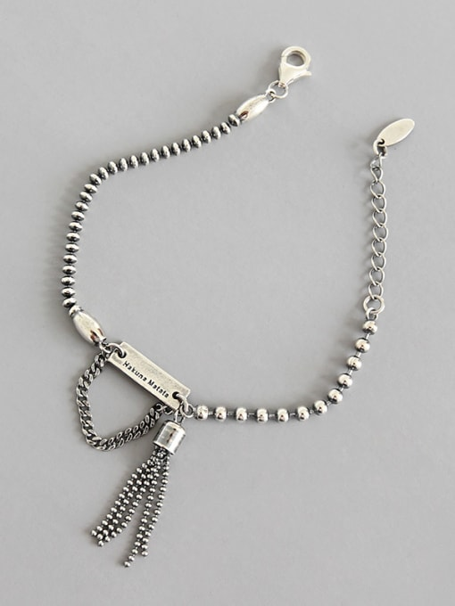 Dak Phoenix Thai Silver With Antique Silver Plated Vintage Irregular Bracelets 0