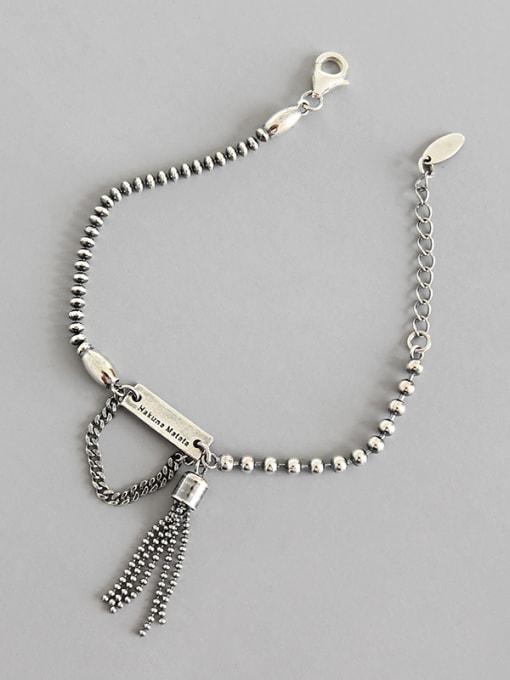 Dak Phoenix Thai Silver With Antique Silver Plated Vintage Irregular Bracelets