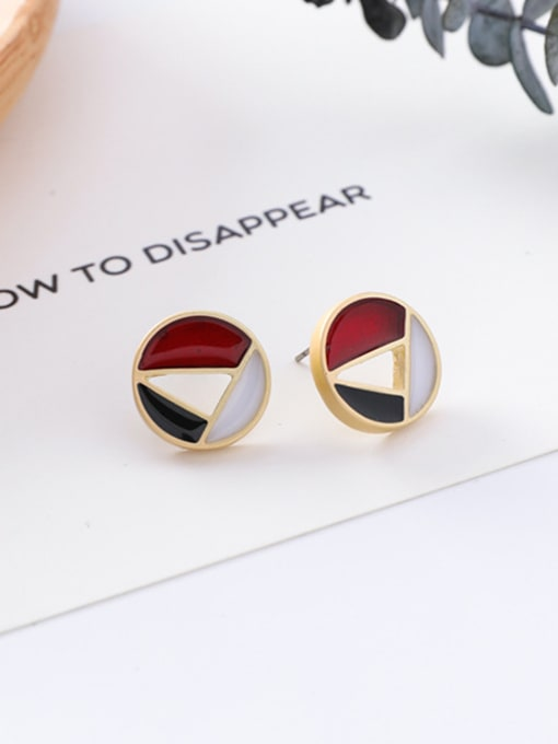 4#10426D Alloy With Gold Plated Trendy Geometric Stud Earrings