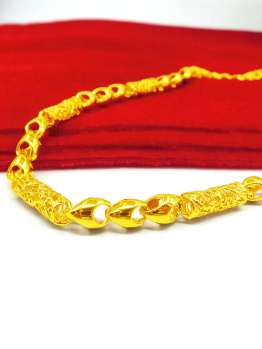 Neayou Men Delicate Brass Gold Plated Necklace 1