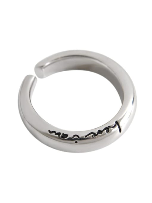 Dak Phoenix 925 Sterling Silver With Platinum Plated Simplistic Monogrammed Rings 2