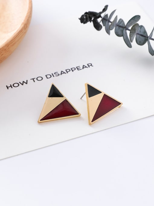 8#10426H Alloy With Gold Plated Trendy Geometric Stud Earrings