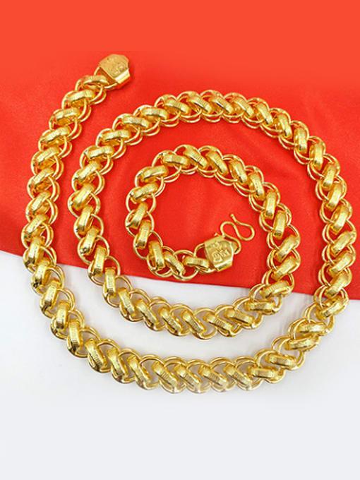 Neayou Delicate Men Geometric Shaped Necklace