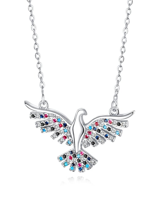 716 - steel Copper With 18k Gold Plated Fashion A great hawk spreads its wings Necklaces