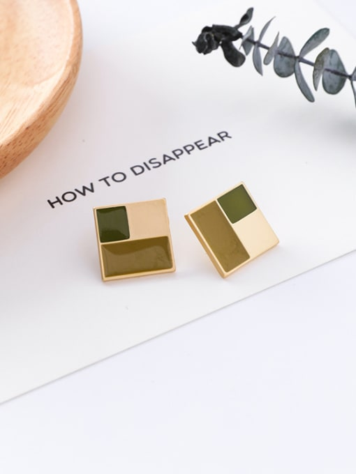 15#10426T Alloy With Gold Plated Trendy Geometric Stud Earrings