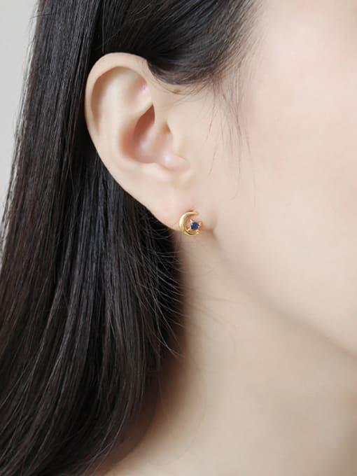Dak Phoenix 925 Sterling Silver With 18k Gold Plated Simplistic Star Stud Earrings 1
