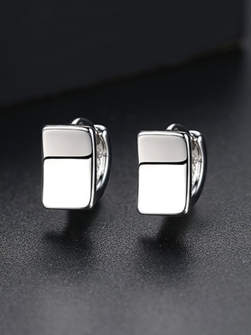 Platinum Copper With Gold Plated Simplistic Geometric Stud Earrings