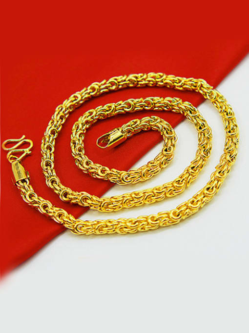 5Mm, 50Cm Men Exquisite Gold Plated Geometric Necklace