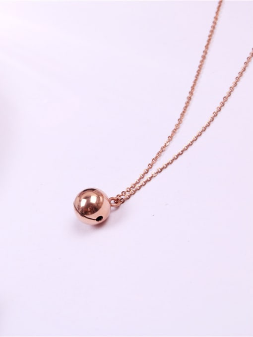 Rose Bells Pedant Clavicle Women Necklace 2