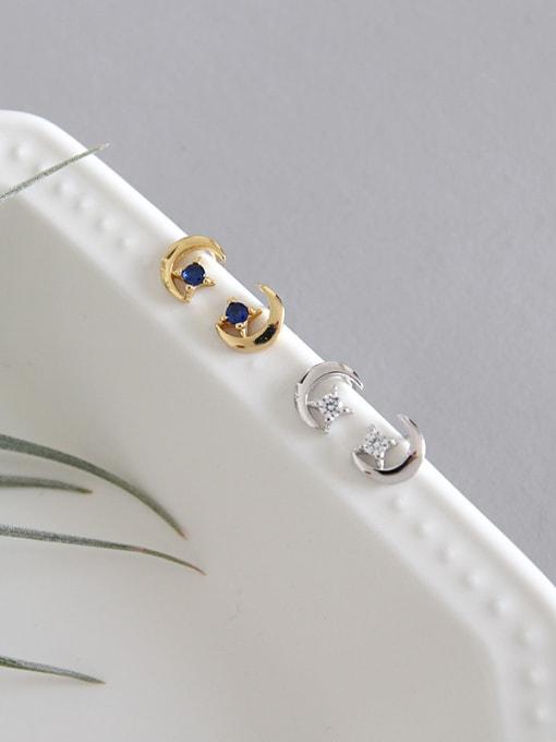Dak Phoenix 925 Sterling Silver With 18k Gold Plated Simplistic Star Stud Earrings 4